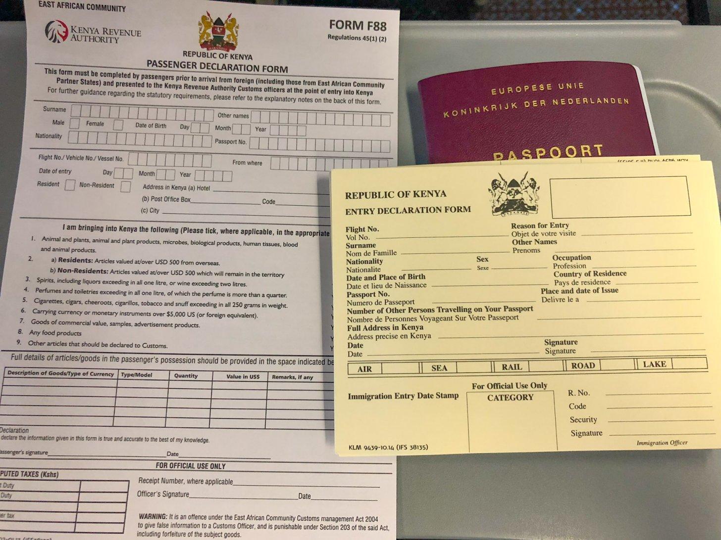 Reisdocumenten om naar Kenia te reizen
