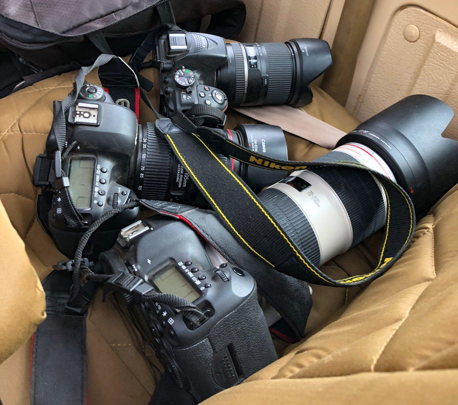 Een setje camera's