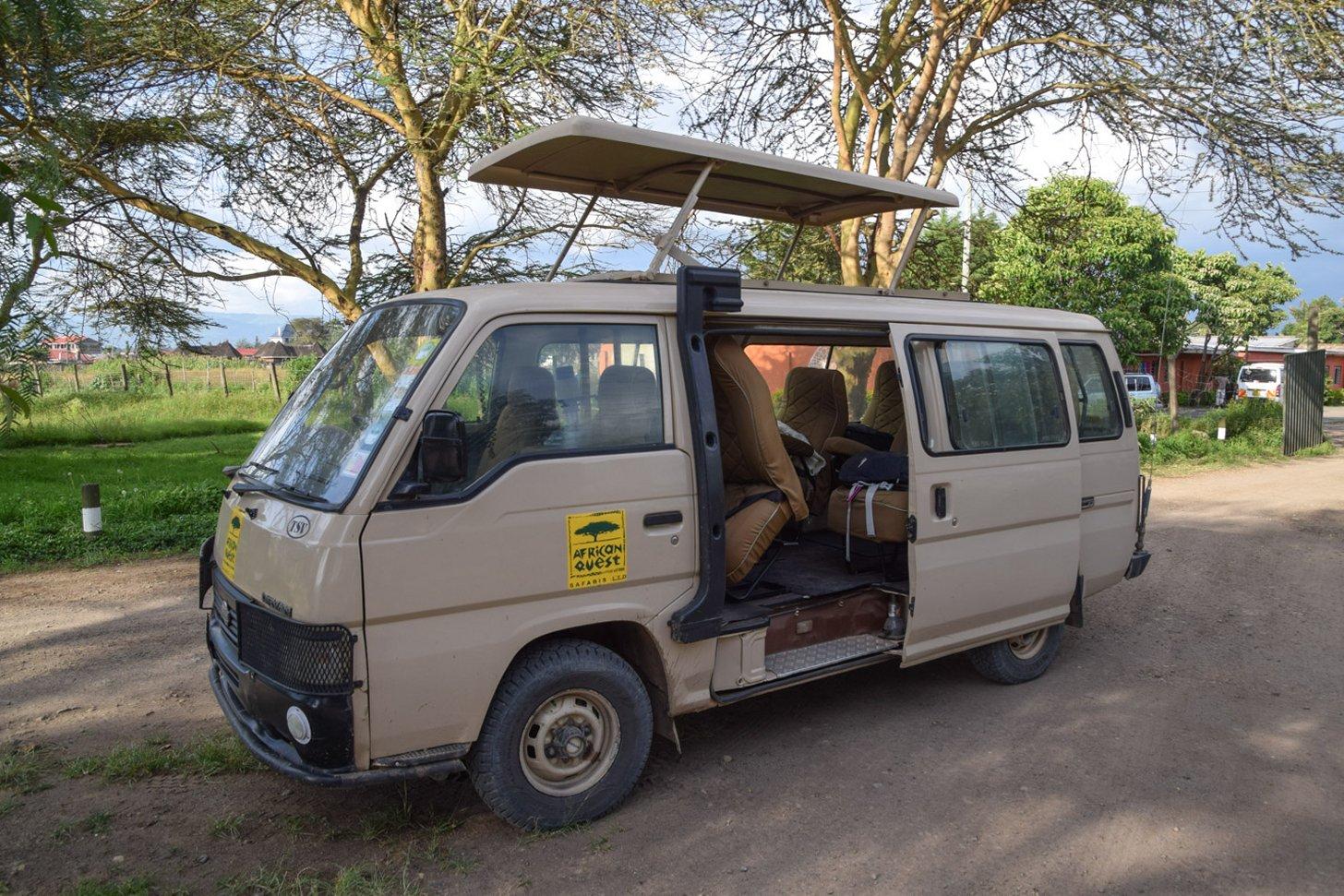 Dit busje is perfect om mee op safari te gaan.