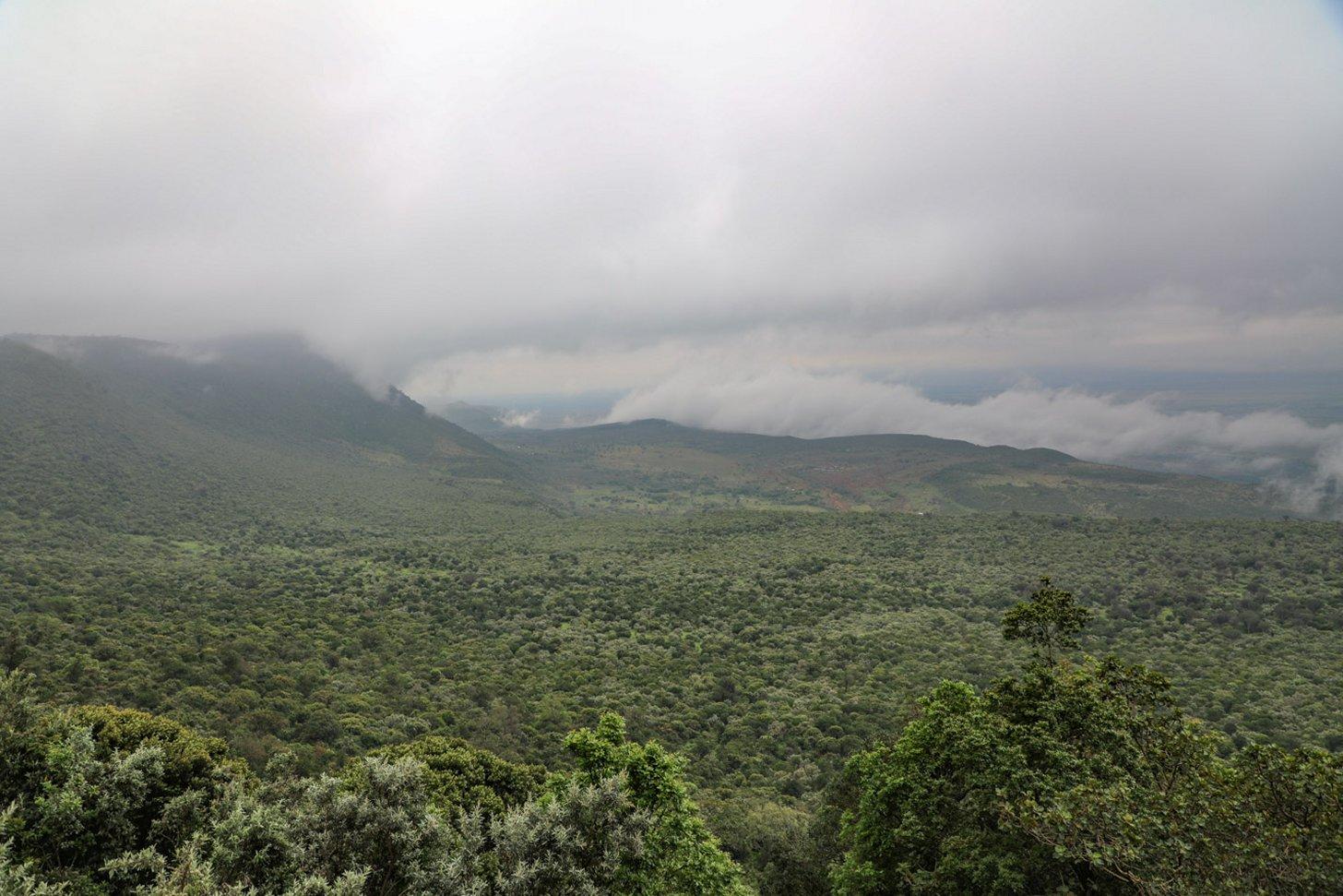 Het kan soms flink bewolkt zijn in Kenia. Zon is geen garantie.